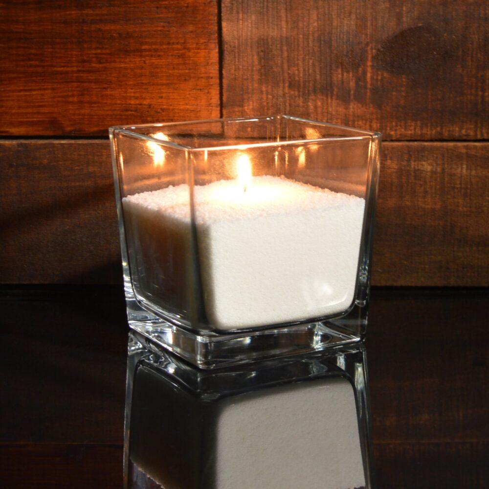 Белые насыпные свечи 1 кг + 1 м фитиля