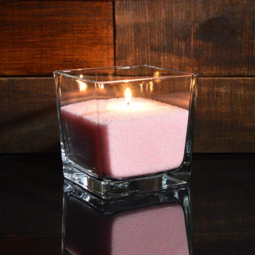 Розовые насыпные свечи 1 кг + 1 м фитиля