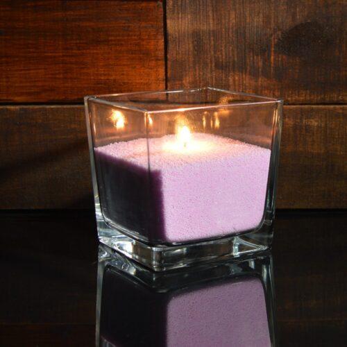 Сиреневые насыпные свечи 1 кг + 1 м фитиля