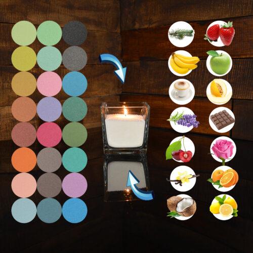 Цветные ароматизированные насыпные свечи 1 кг + 1 м фитиля
