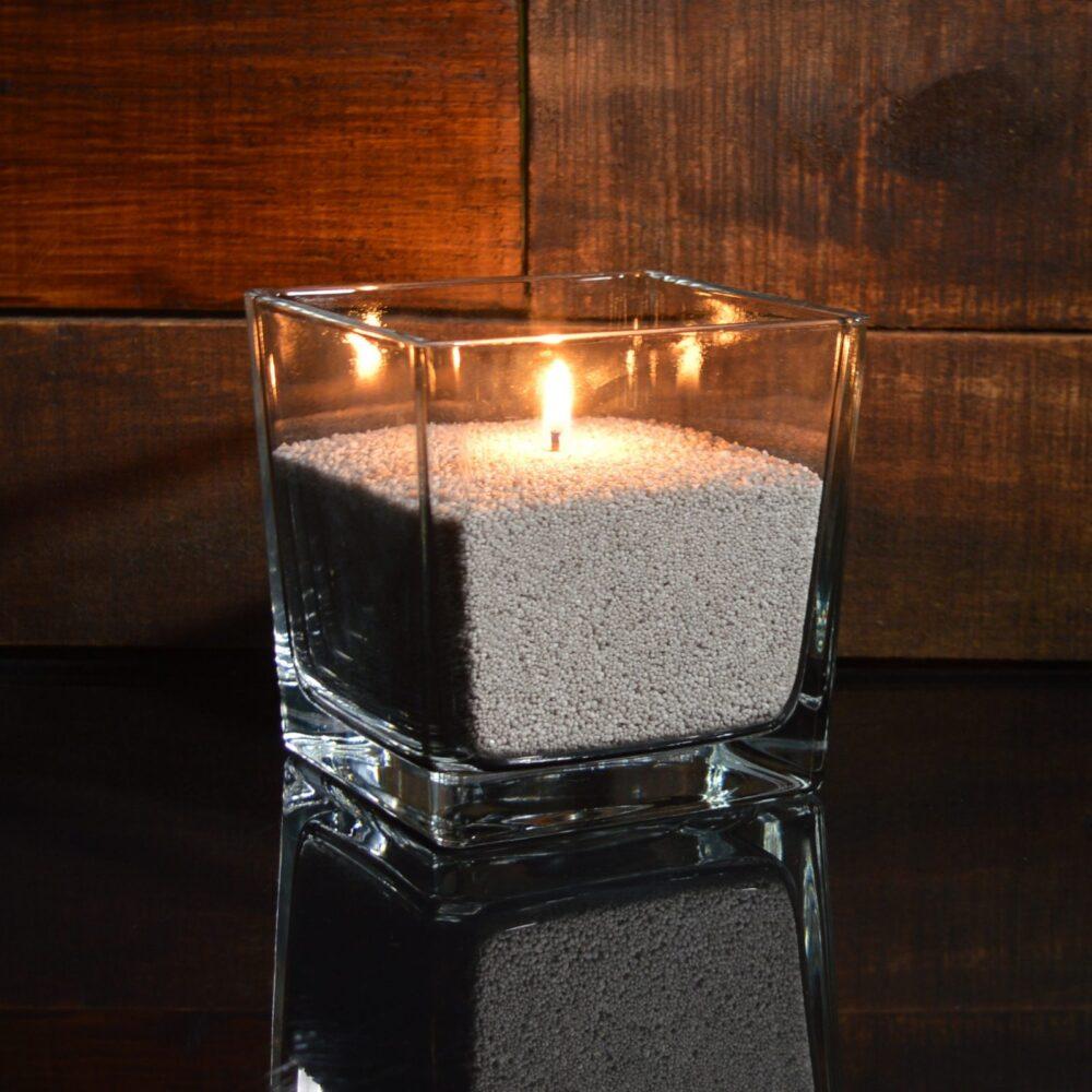 Серые насыпные свечи 1 кг + 1 м фитиля