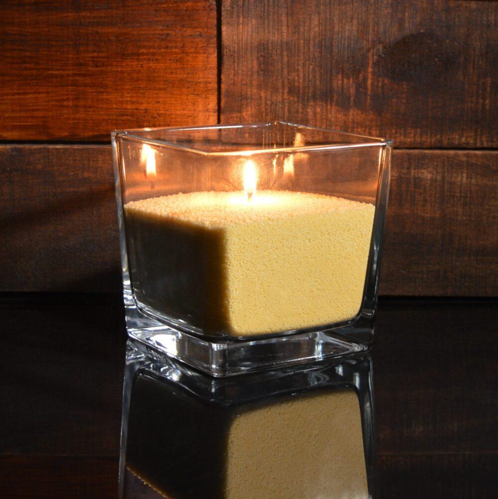 Желтые насыпные свечи 1 кг + 1 м фитиля