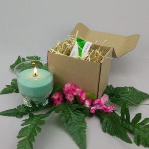 Зеленая насыпная свеча 9 см.