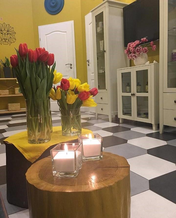 Насыпные свечи в SPA салоне