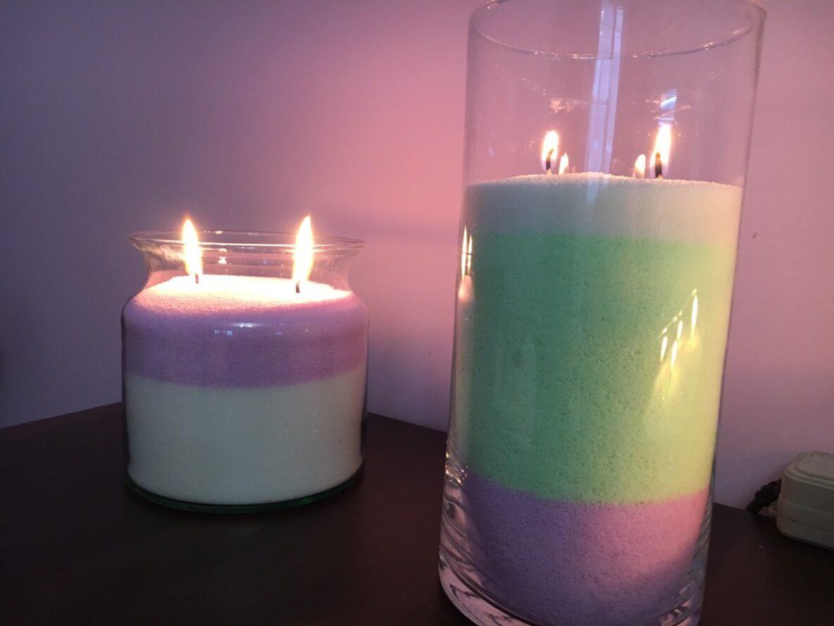 Різнокольорові насипні свічки