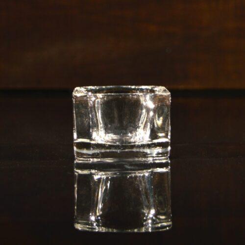Подсвечник стеклянный, h 3 см, Ø 5 см