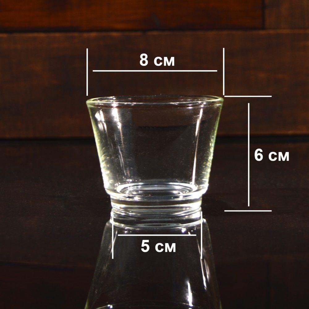 Подсвечник стеклянный, h 6 см, Ø 8 см