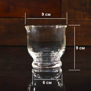 Подсвечник стеклянный, h 9 см, Ø 9 см
