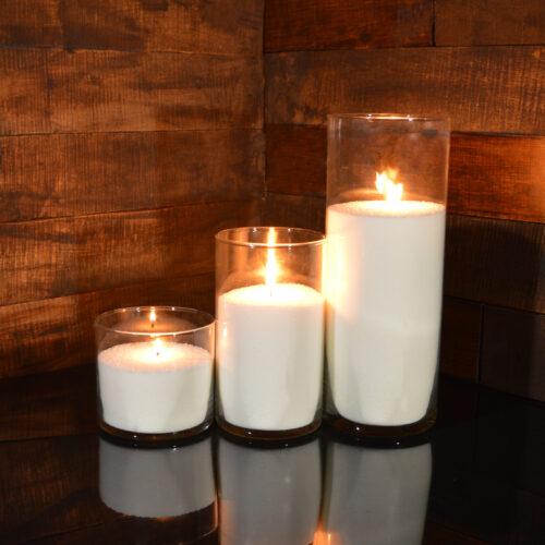 Насыпные свечи комплект №10 (3 свечи 10,20,31 см)