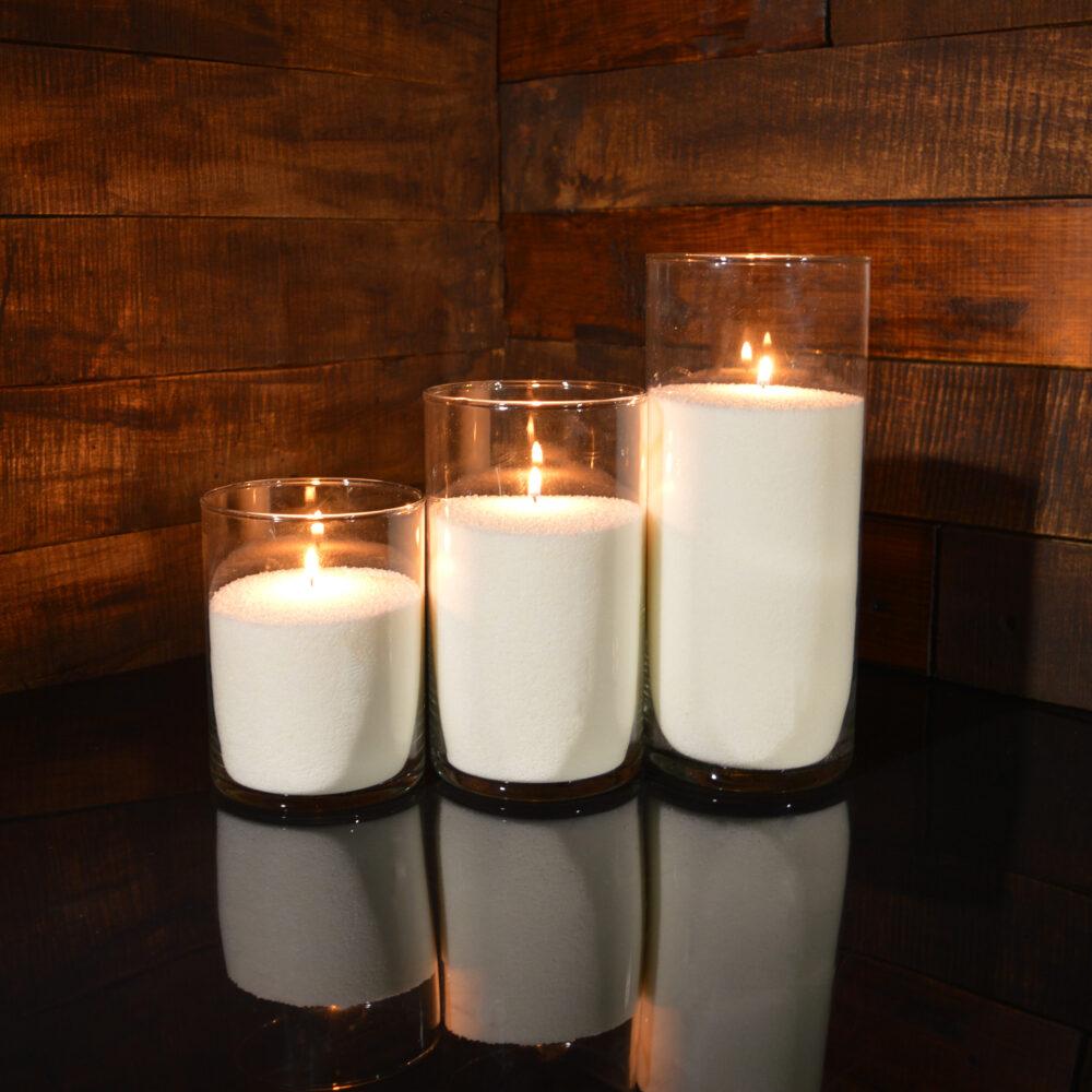 Насыпные свечи комплект №4 (3 свечи 15,20,26 см)