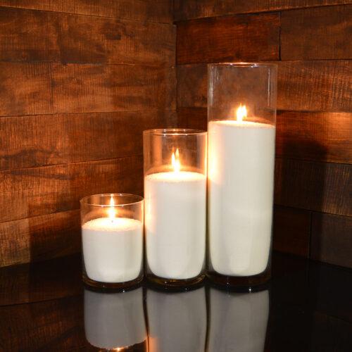 Насыпные свечи комплект №9 (3 свечи 15,26,38 см)