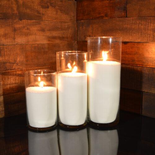Насыпные свечи комплект №7 (3 свечи 20,26,31 см)
