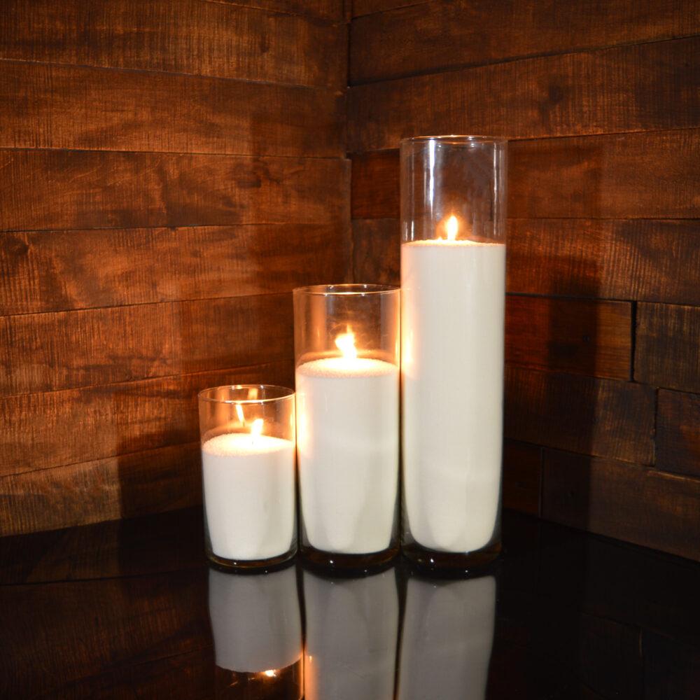 Насыпные свечи комплект №11 (3 свечи 20,31,47 см)