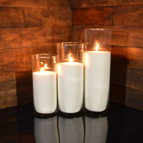 Насыпные свечи комплект №8 (3 свечи 26,31,38 см)