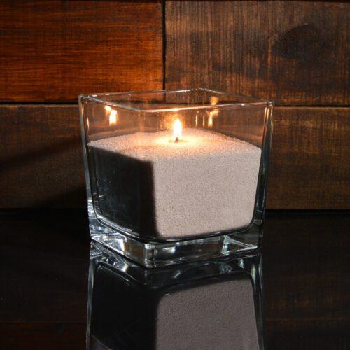 Бежевые насыпные свечи 1 кг + 1 м фитиля