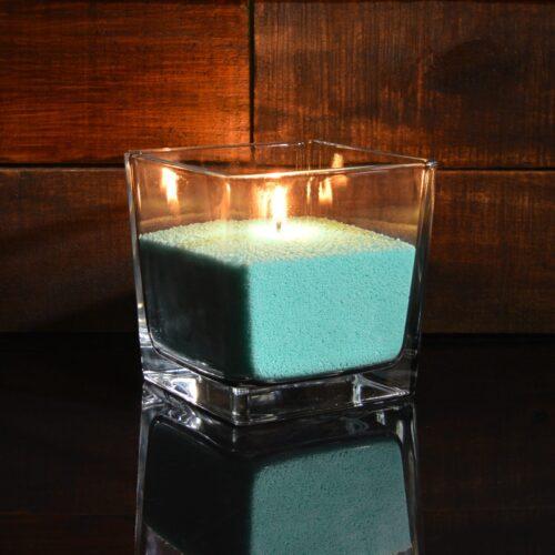 Зеленые (изумрудные) насыпные свечи 1 кг + 1 м фитиля