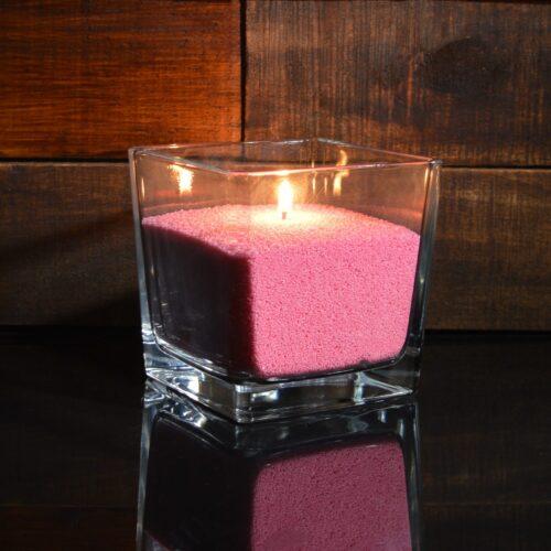 Красные (малиновые) насыпные свечи 1 кг + 1 м фитиля
