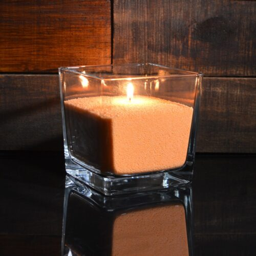 Ярко-оранжевые насыпные свечи 1 кг + 1 м фитиля