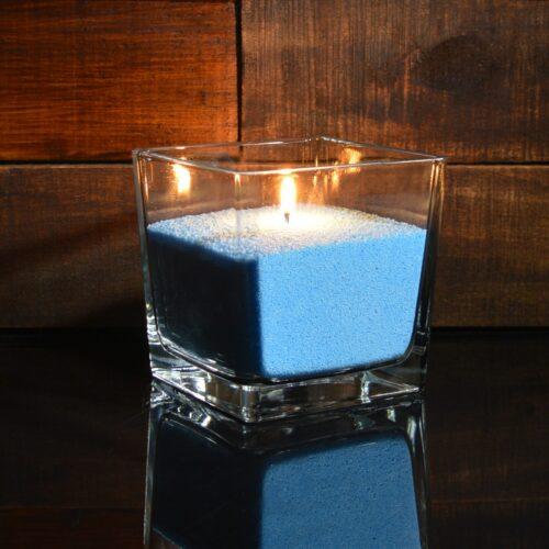 Ярко-синие насыпные свечи 1 кг + 1 м фитиля