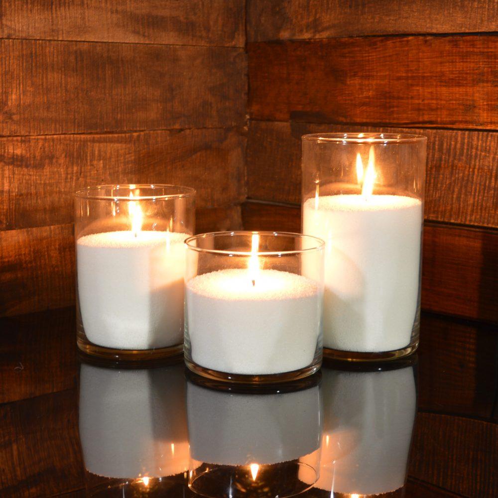 Насыпные свечи комплект №6 (3 свечи 10,15,20 см)