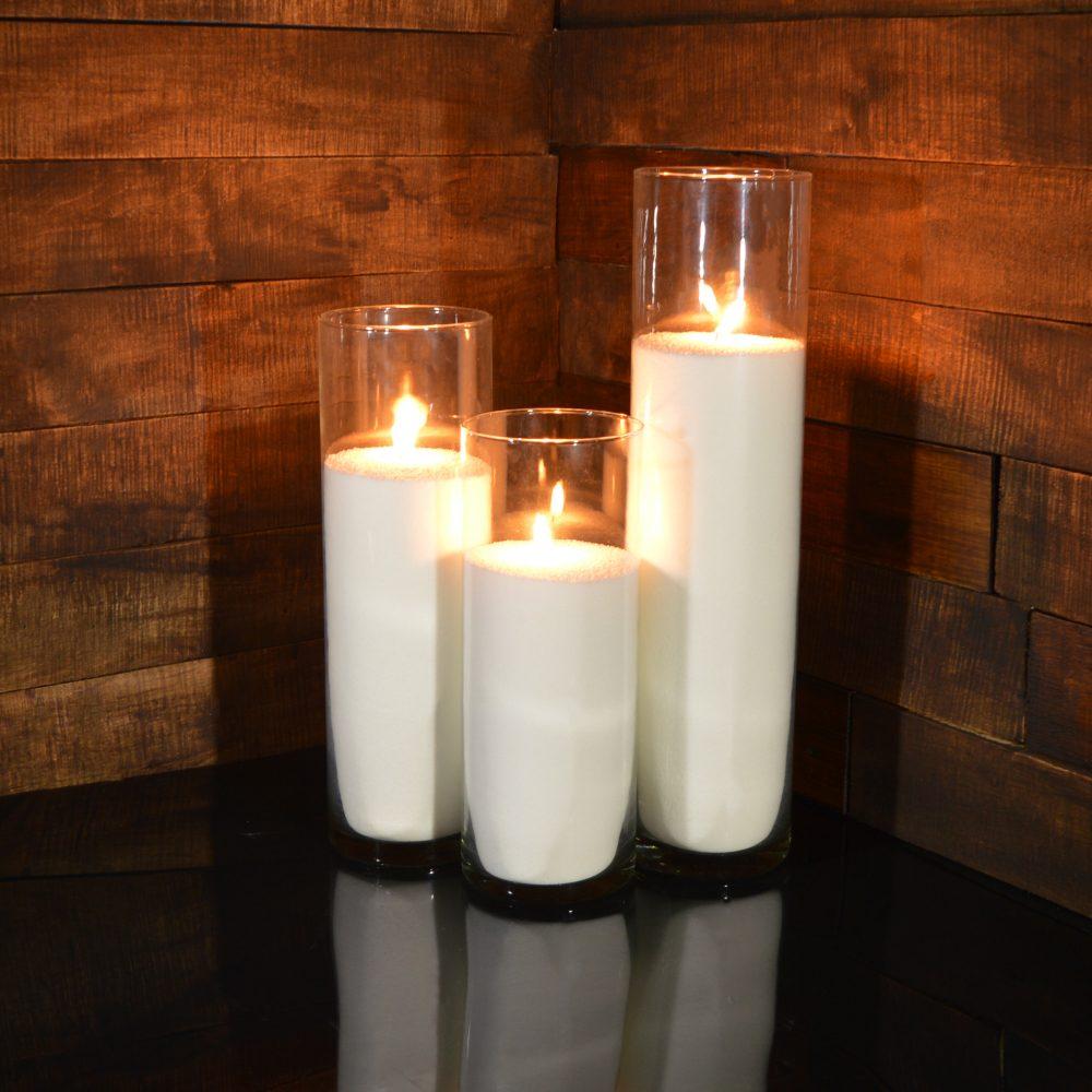 Насыпные свечи комплект №5 (3 свечи 31,38,47 см)