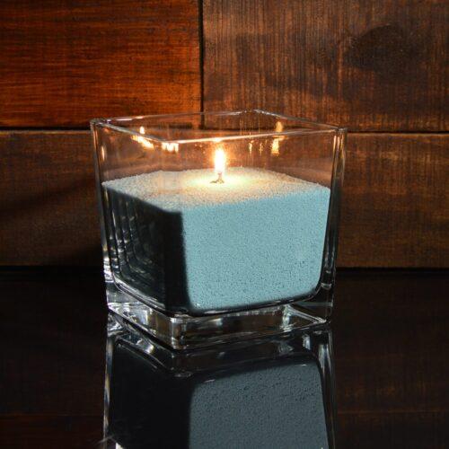 Синие (сапфировые) насыпные свечи 1 кг + 1 м фитиля