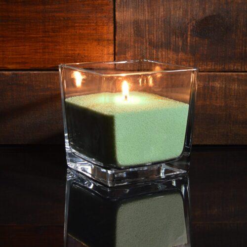 Зеленые (оливковые) насыпные свечи 1 кг + 1 м фитиля