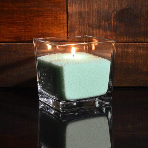 Бирюзовые (тиффани) насыпные свечи 1 кг + 1 м фитиля