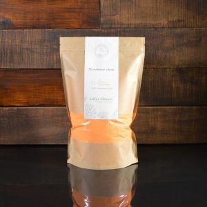 Ярко-оранжевые насыпные свечи в фирменной упаковке 800 грамм