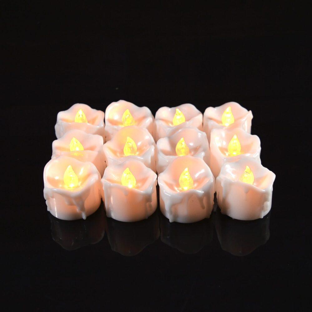 Светодиодные свечи, комплект 12 штук
