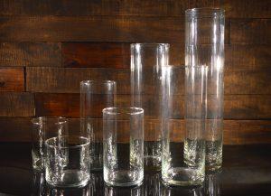 Стеклянные вазы, колбы