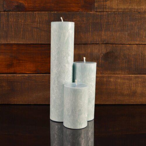 Голубые свечи из пальмового воска (комплект из 3-х свечей)